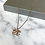 Thumbnail: Rose Gold Glitter Pendant Necklace