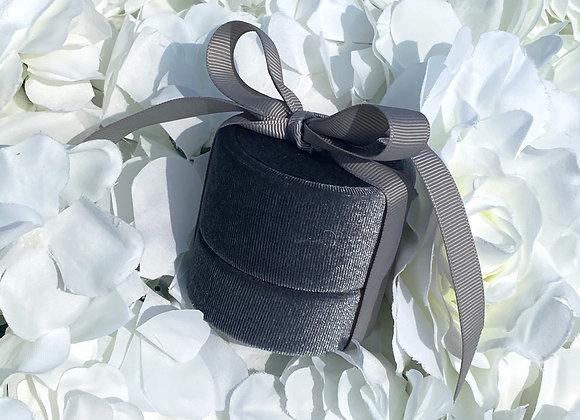 Luxury Grey Velvet Gift Box
