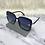 Thumbnail: Oversized Black Square Bug Sunglasses