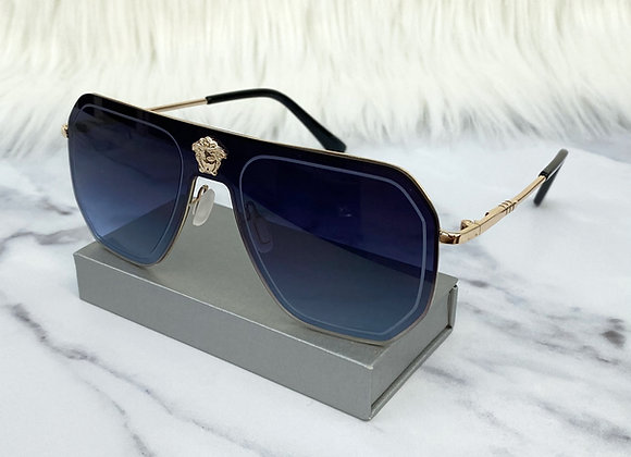 Charlotte Navy Oversized Sunglasses