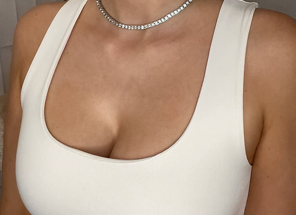 Tennis Chain Silver Necklace 3mm