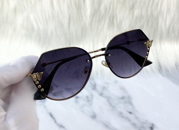 Oversized Butterfly Navy Sunglasses