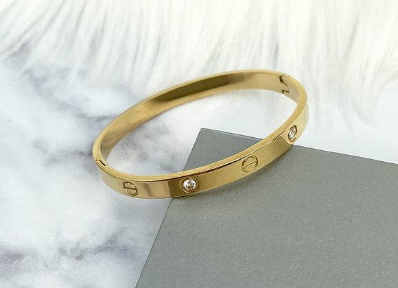 Gold Multi Stone Bangle