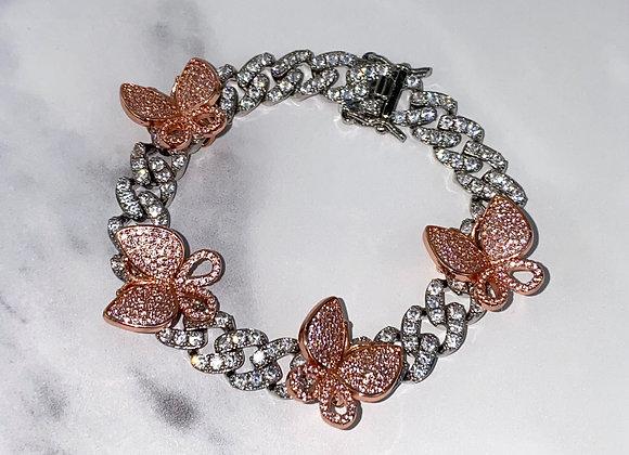 ICE Butterfly Pink Bracelet