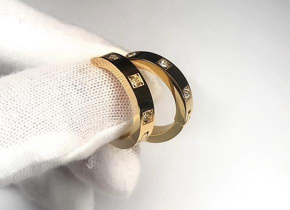 Gold Diamante Hoops