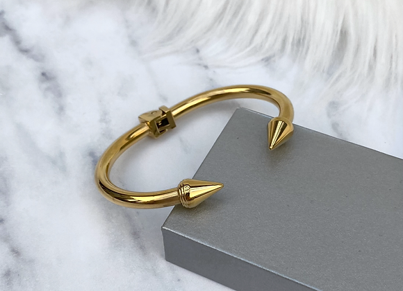 Gold Spike Cuff Bangle
