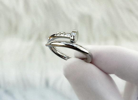 Silver Screw Ring