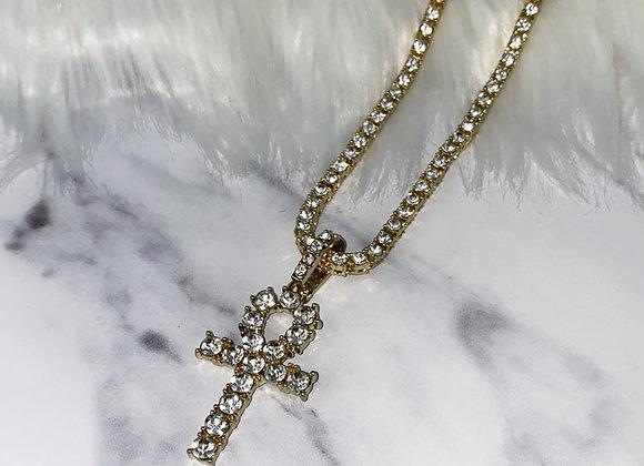 ICE Gold Cross Chain