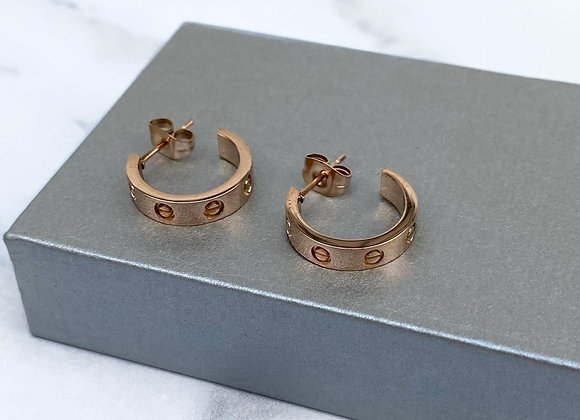 Rose Gold Mini Hoops