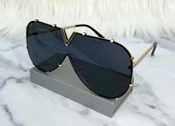 Black & Gold V Sunglasses