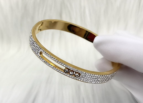 Gold Full Stone Luxe Bangle