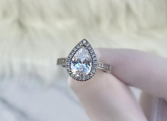 Sterling Silver Tear Drop Ring