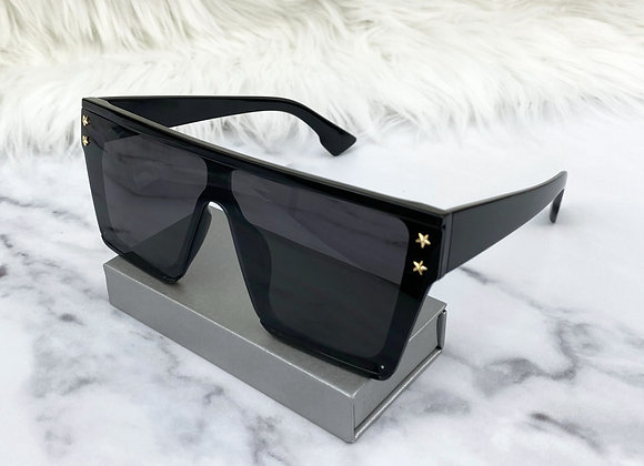 Kelsey Oversized Black Sunglasses