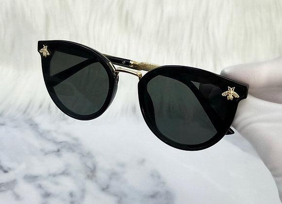 Black Bug Cat Eye Sunglasses