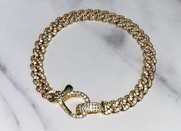 ICE Gold Link Chain Bracelet