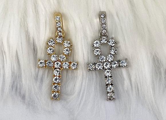 Cross Silver Stone Pendant