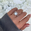 Thumbnail: Sterling Silver Rectangle Stone Ring