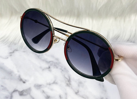 Round Stripe Sunglasses