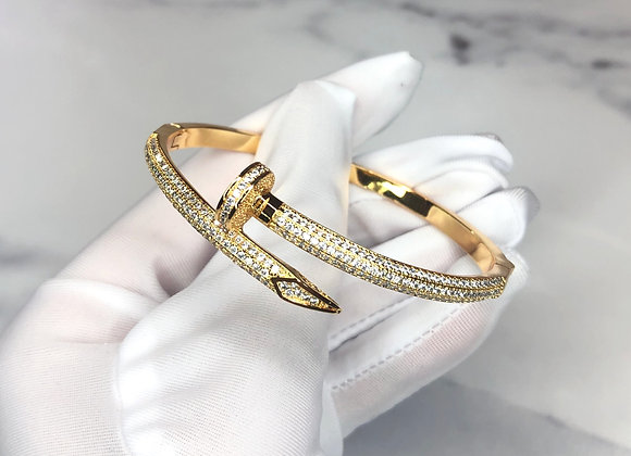 Yellow Gold Luxe Nail Bangle