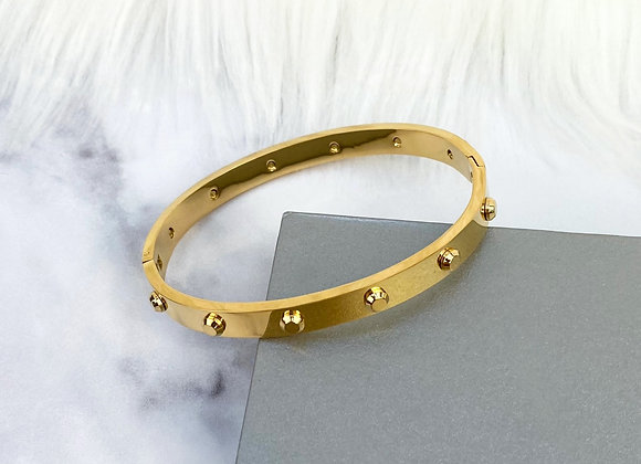 Industrial Gold Bangle