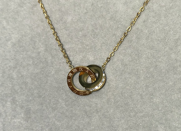 Gold Numeral Necklace