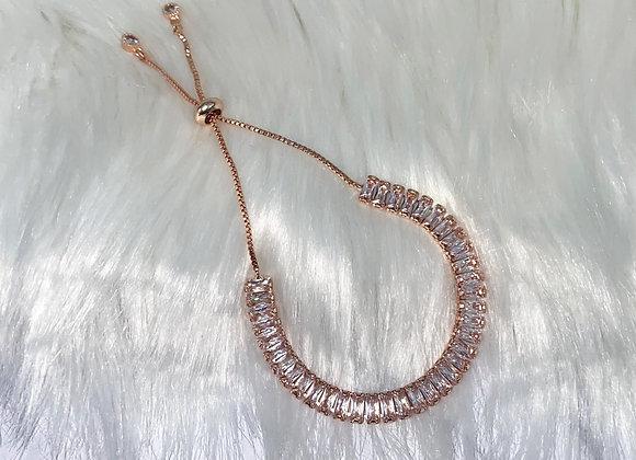 Rose Gold Adjustable Crystal Bracelet