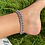 Thumbnail: Cuban Chain Silver Stone Detail Anklet