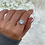 Thumbnail: Sterling Silver Square Stone Ring