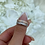 Thumbnail: Sterling Silver Rose Gold Stone Ring