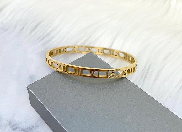 Gold Numeral Bracelet 5mm