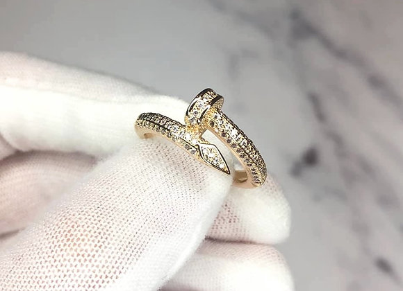 Gold Luxe Screw Ring