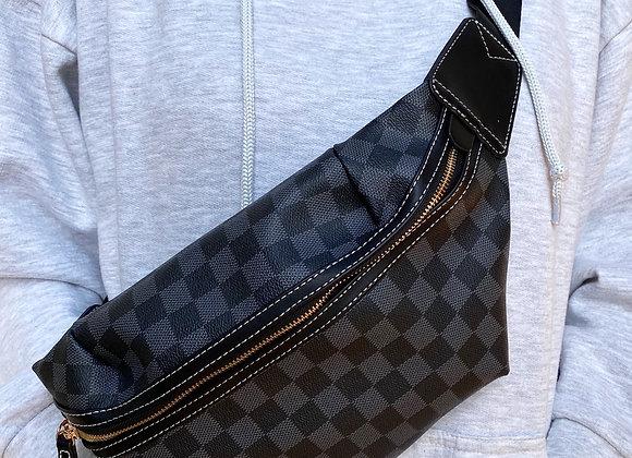 Black Check Bum Bag