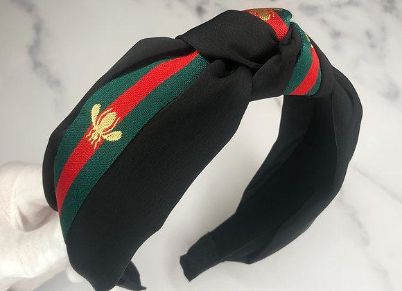 Silk Striped Bug Headband