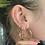 Thumbnail: Mini F Gold Hoop Earrings