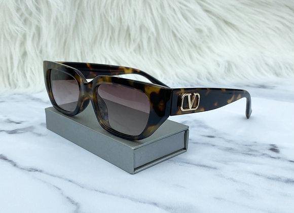 Tortoiseshell V Half Sunglasses