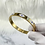 Thumbnail: Gold Evil Eye Bangle