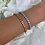 Thumbnail: Sterling Silver Gold Tennis Bracelet