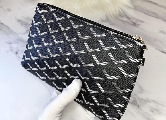 Black Printed Clutch Bag Pouch