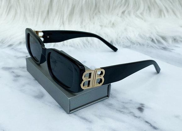 Half Black B Sunglasses