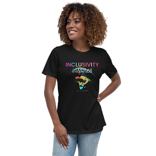 Limited Edition || Relaxed Fit Women's T Shirt || Inclusivity Inspires || Clean