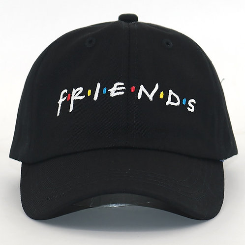 His/Hers Baseball Cap. Friends Embroidery. Cotton. Adjustable Snapback.
