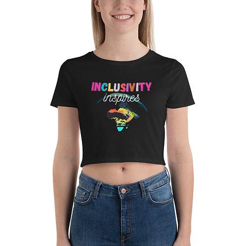 Women's Crop Tee #inclusivityInspires