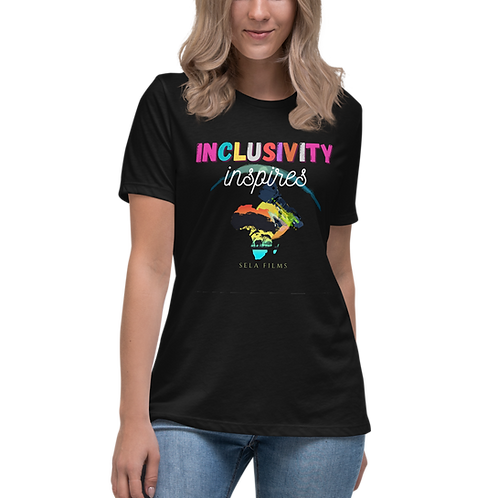 Limited Edition    Relaxed Fit Women's T Shirt    Inclusivity Inspires    BOLD