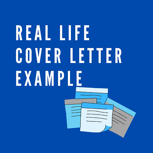 Real life cover letter example