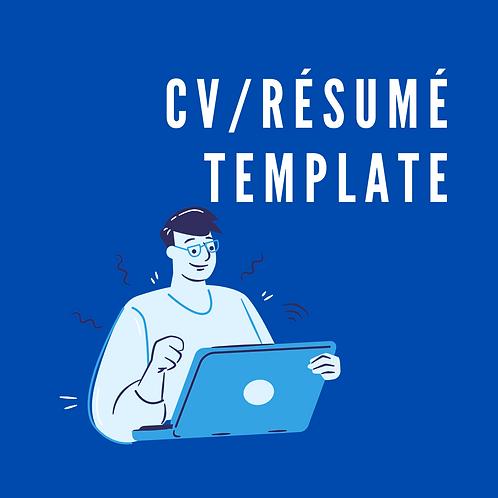 CV/résumé template