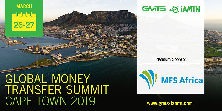 The Global Money Transfer Summit (GMTS) is the most recognised conference in the money transfer industry. GMTS connects the global network of innovators, disruptors and established industry stakeholders who are driving the worldwide payments and payment ecosystems in Africa.