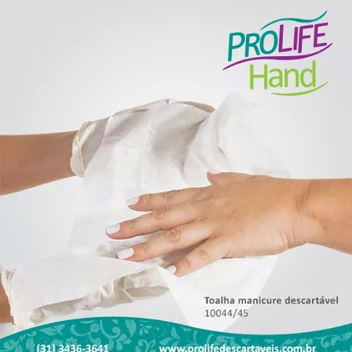Toalha / lenço manicure para secar as mãos descartável. Pcte com 100 unidades.