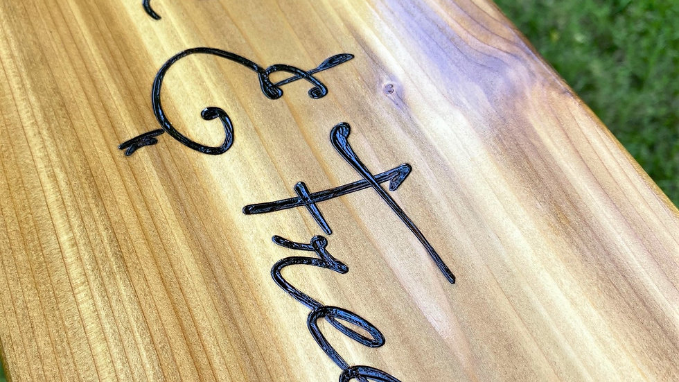 Wild and Free Rectangle Cedar Swing