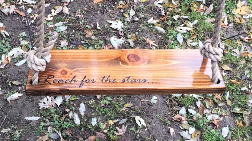 Reach for the Stars Wooden Tree Swing