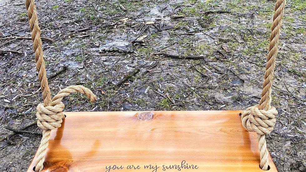 You are my Sunshine Wood Tree Swing